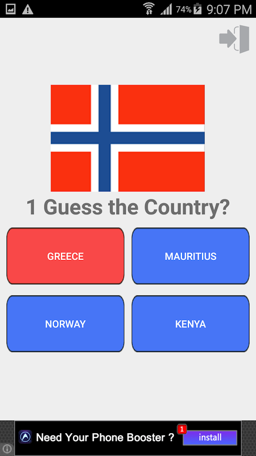Country Flag and Capital Quiz
