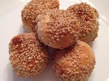 Sesame Bean Paste Balls Recipe