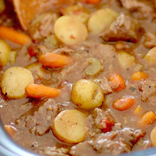 Crock Pot Chunky Beef & Potato Stew.