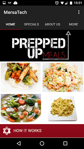 android Prepped Up Meals Screenshot 1