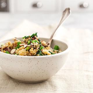 "Mushroom & Edamame Quinoa Fried ""rice""."
