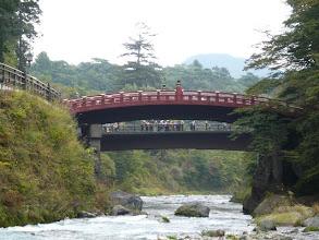 Photo: 大谷川河原から神橋を
