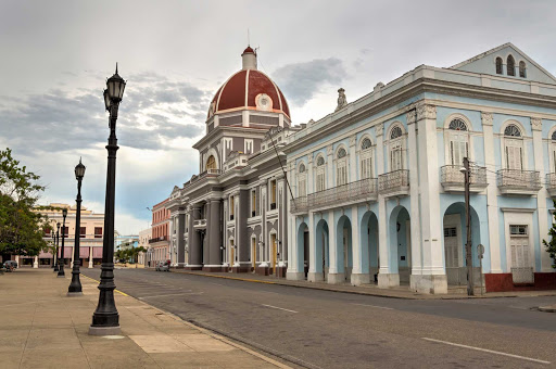 Cuba-Dome-Architecture-and-Street_01.jpg - The historic center of Cienfuegos, Cuba, is a UNESCO World Heritage site.