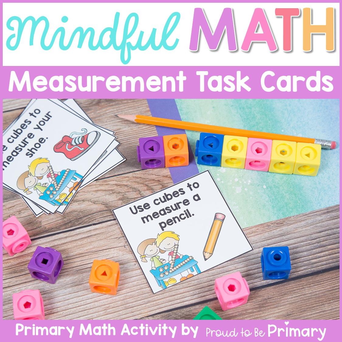 Mindful Math Measurement Task Cards
