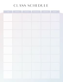 Modern Class Schedule - Class Schedule item