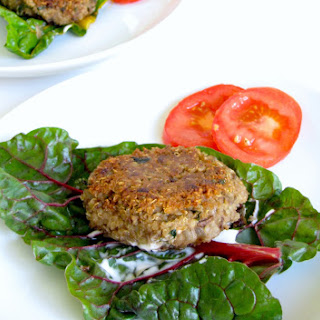 Walnut Lentil Burgers with Tarragon