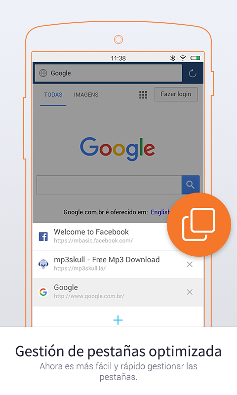 UC Browser Mini - Navegador: captura de pantalla