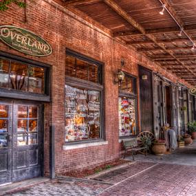 Express by Darin Williams - City,  Street & Park  Markets & Shops ( wood, brick wall, brick paved, walkway, covered )