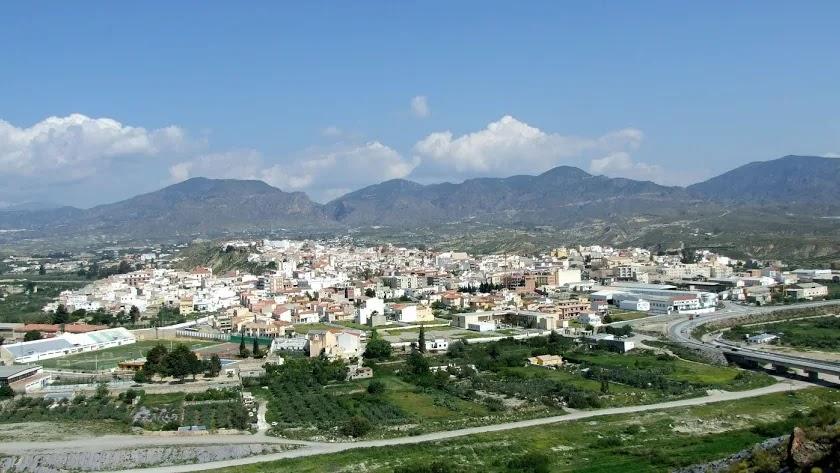 Vista general del municipio de Olula del Río.