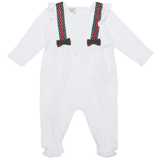 Primary image of Gucci Web Bow Babysuit