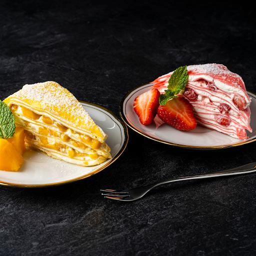 Mango Mille-Crêpe Cake Slice Plus 1 (Two Slices)