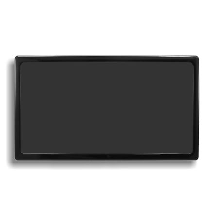 DEMCiflex magnetisk filter 2x200 mm, rektangulær, sort