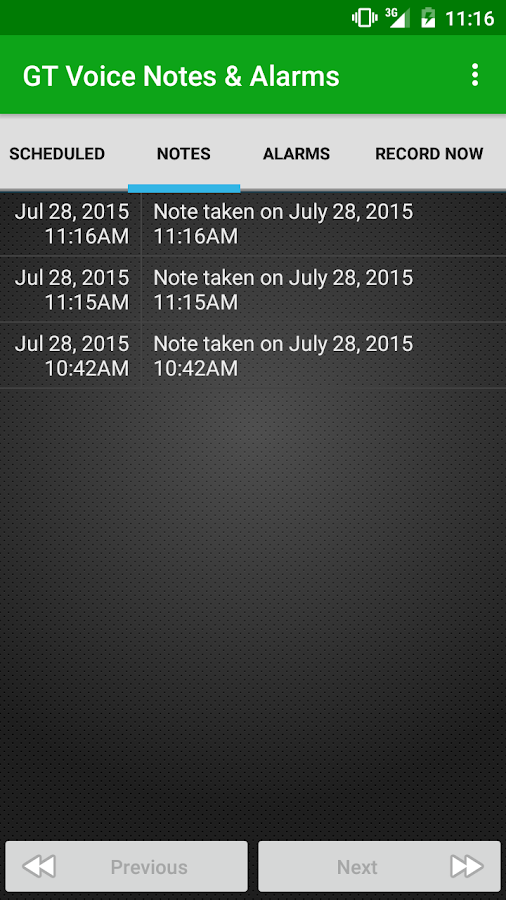 Voice Notes & Alarms recorder- screenshot