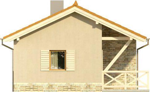 Domek 8 - Elewacja lewa