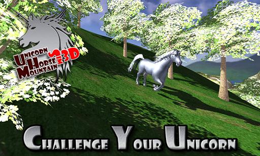 Unicorn Horse Mountain Sim 3D