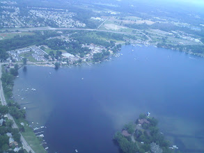 Photo: Right before we dropped the feather over Whitmore Lake