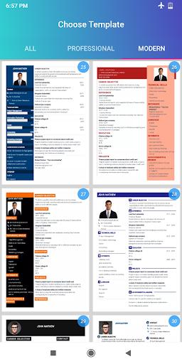 Resume Builder App Free CV maker CV templates 2020 screenshot 12