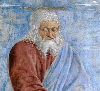 Annunciazione (particolare, sullo sfondo del cielo chiaro, Dio Padre invia lo Spirito Santo