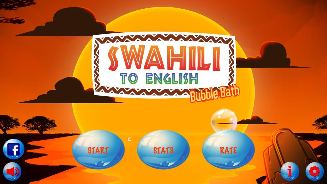 Swahili to English Bubble Bath- screenshot