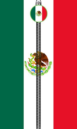 Mexico Flag Zipper UnLock