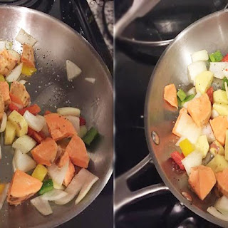 Easy throw together Sweet Potato Hash