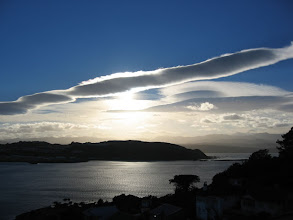 Photo: Lyall Bay and lenticular clouds - 8:13am, 8-Mar-05