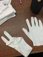 Photo: 4/27 かんの用白い手袋。 これから長い付き合いになるわね♪
