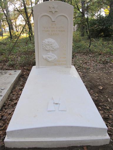 Tombe en pierre de Berti au cimetière juif de Carpentras
