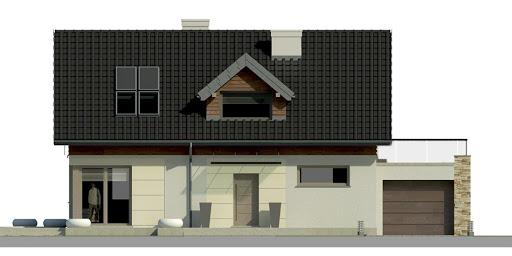 Dom przy Alabastrowej 5 - Elewacja przednia