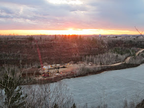 Photo: Rewarded with a gorgeous sunset over the project site and City of Virginia.