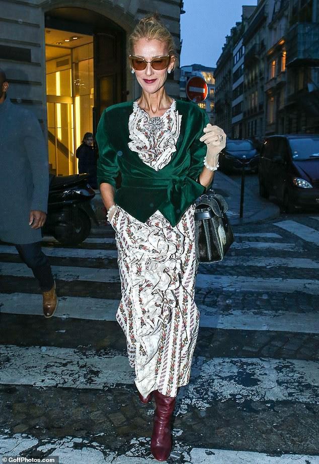Celine Dion lại gây sốc khi diện váy xẻ sâu khoe ngực với cơ thể nhăn nheo - ảnh 6