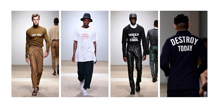 Emmy Kasbit, Good Good Good, Tokyo James and SolSol, brought cheeky wording to the runway this season