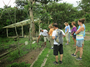 Photo: Chocolate Tour Mindo Ecuador: Checking out organically grown additions such as ginger root, stevia, and lemongrass. YUM!