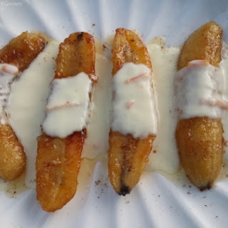 Caramelized Banana With Cr�Me Anglaise (Classic English Custard).