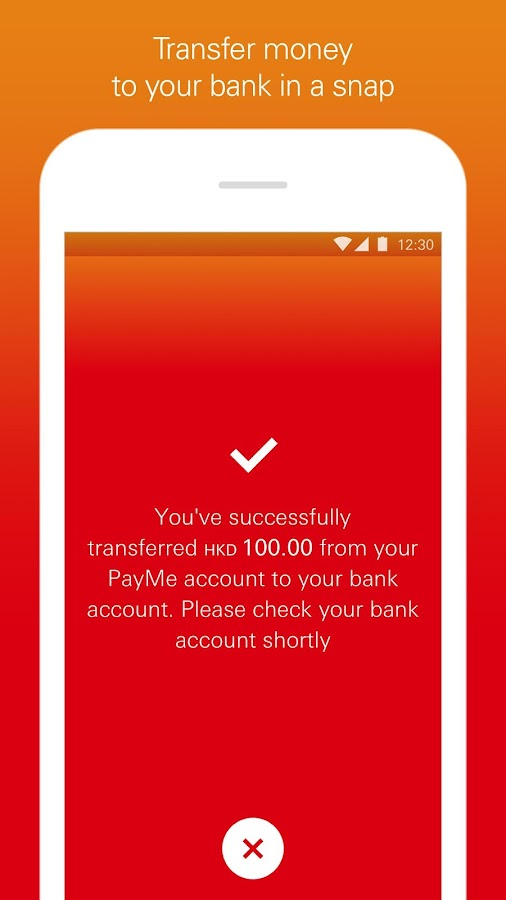 PayMe from HSBC- screenshot