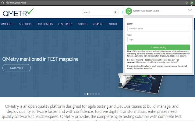 QAS Web Recorder