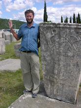 Photo: Mick and medieval necropolis at Radimlja.