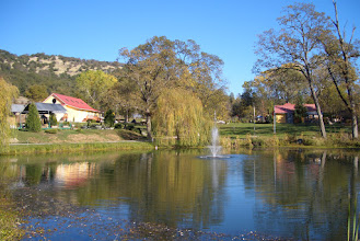 Photo: Yoga Farm, Grass Valley, CA - Pond and Fountain, Yoga Barn