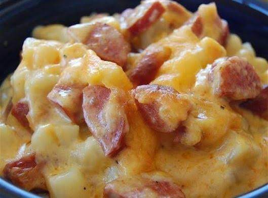 Cheese Potato & Smoked Sausage Casserole Recipe