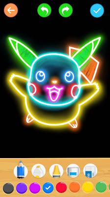 Draw Glow Cartoon - screenshot