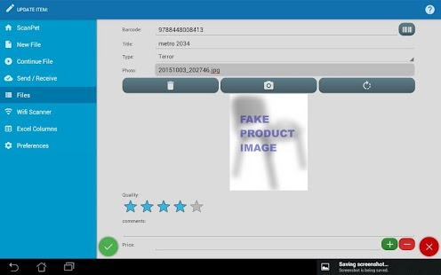 Barcode scanner & Inventory- screenshot thumbnail