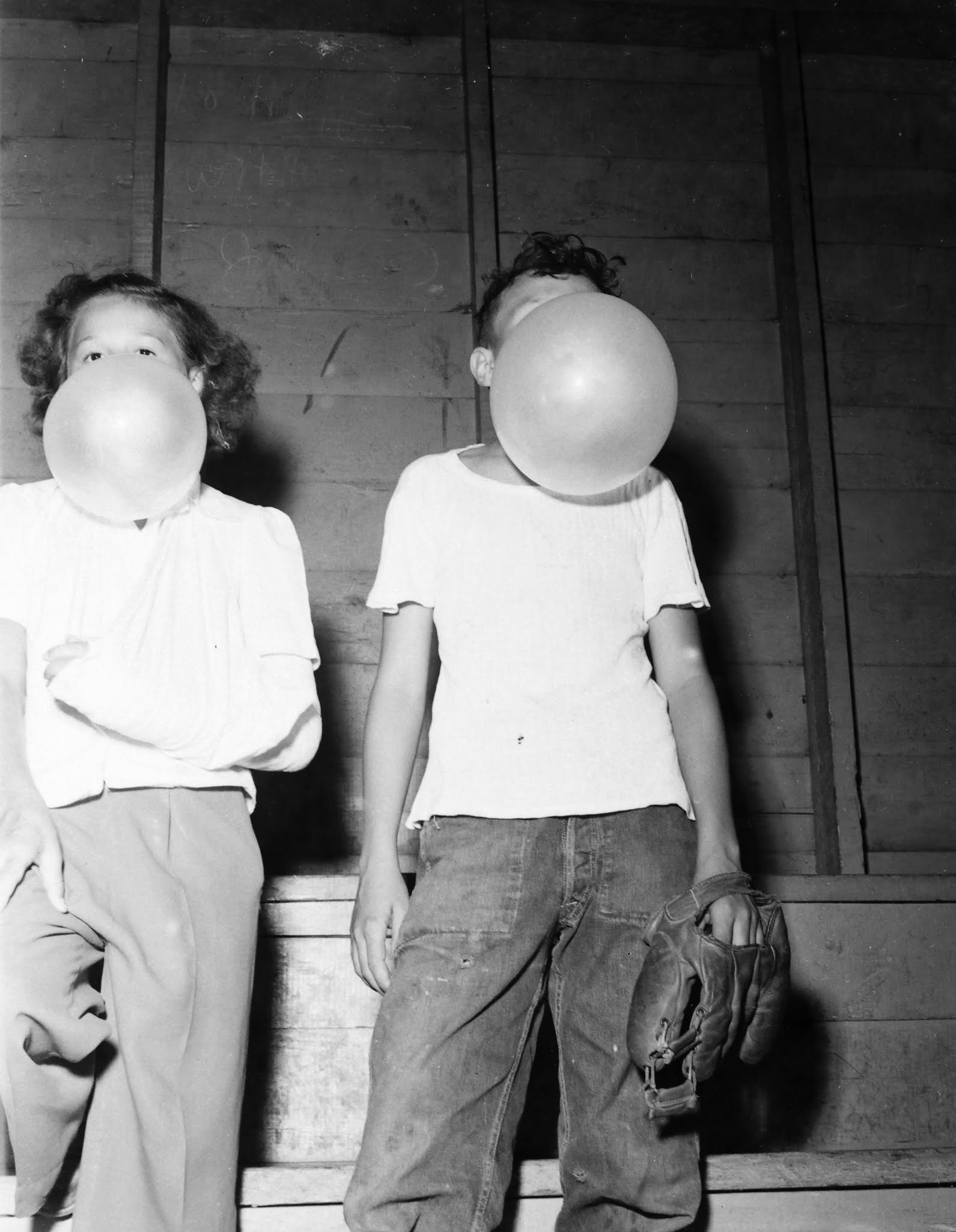 Photo: Bubble Gum blowing Contest