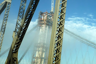Photo: They are replacing the eastern span with a new bridge