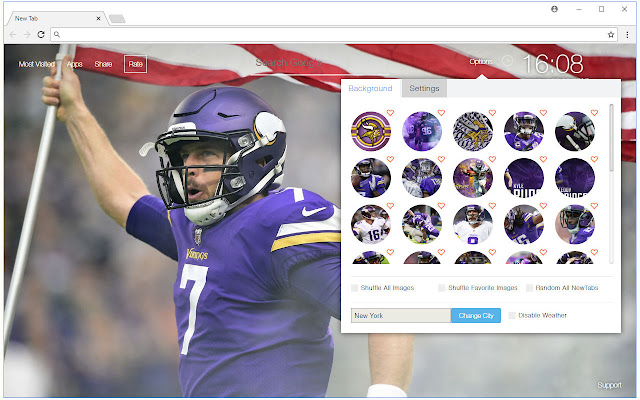 NFL Minnesota Vikings Wallpaper Custom NewTab