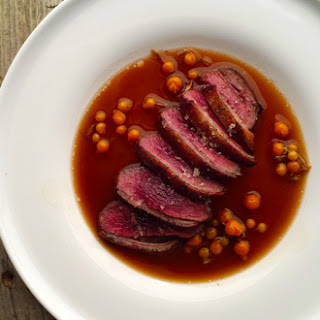 Duck Breast with Beer Sauce