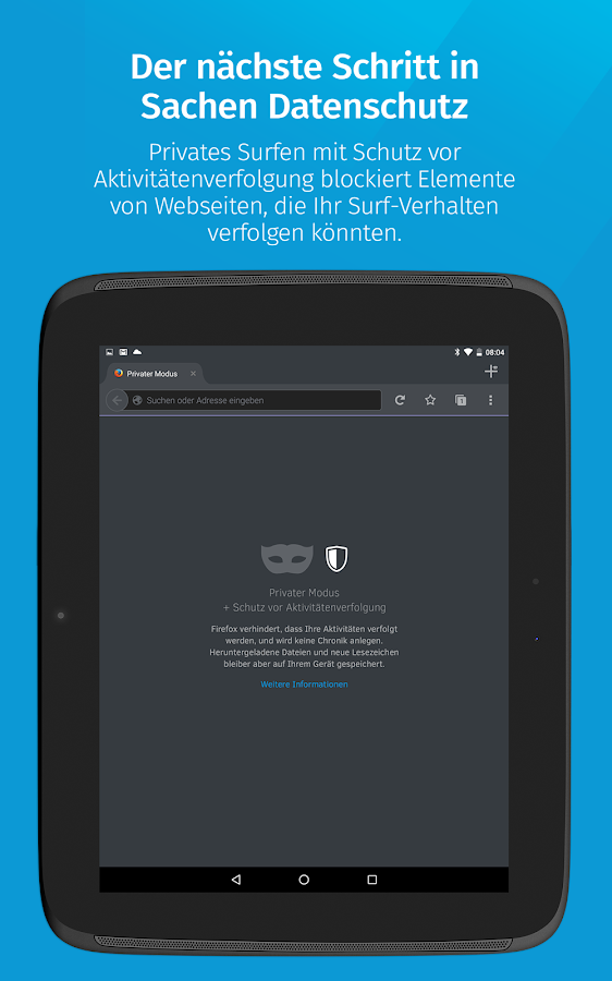 Firefox: privat+sicher surfen – Screenshot