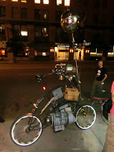 Photo: Boston's renegade bicycle chopper gang payed a visit at the end of the compos and showed us their awesome rides.