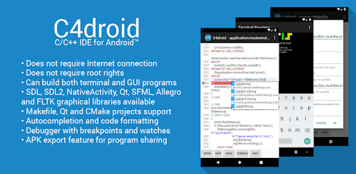 C4droid - C/C++ compiler & IDE - Apps on Google Play