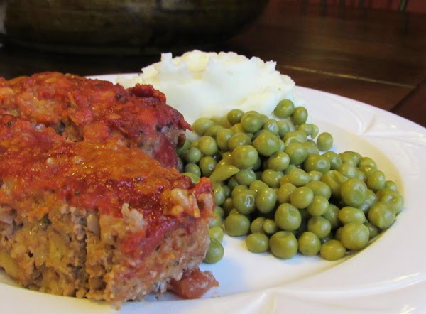 Meat Loaf With Dijon Mustard, Tomatoes & Cheese Recipe