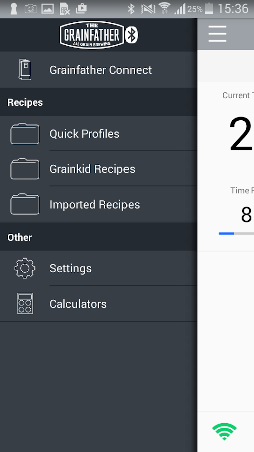 Grainfather Connect- screenshot